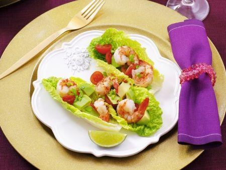 Shrimps-Cocktail mit Avocado