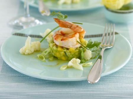 Shrimps mit Mango-Avocado-Salat