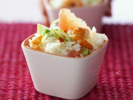Shrimps-Reis-Salat mit Grapefruit