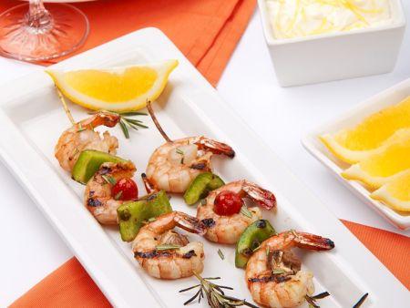 Shrimps-Spieße vom Grill