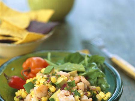 Shrimpssalat mit Gemüse