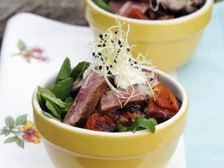 Sommerlicher Salat mit Steak