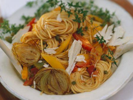 Spaghetti mit Gemüsesoße