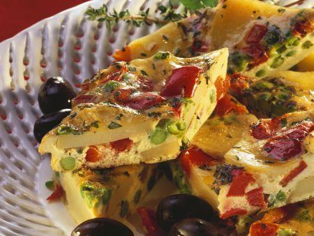 spanische tortilla mit gem se rezept eat smarter. Black Bedroom Furniture Sets. Home Design Ideas