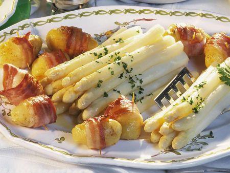 Spargel mit Schinken-Kartoffeln