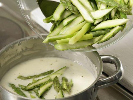 Spargel-Pasta mit Bündner Fleisch: Zubereitungsschritt 9