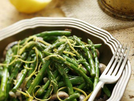 Spargel-Pilz-Salat auf türkische Art