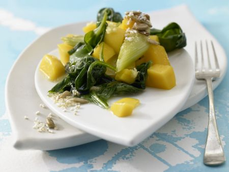 Spinat-Mango-Gemüse