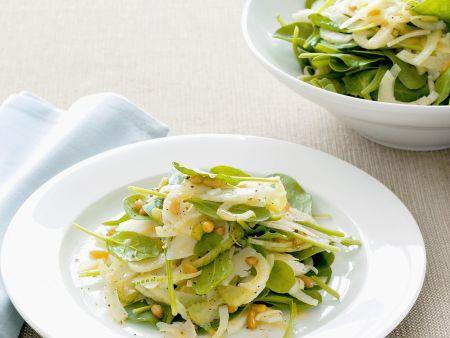 Spinatsalat mit Fenchel