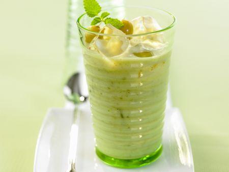 Stachelbeer-Buttermilch-Drink