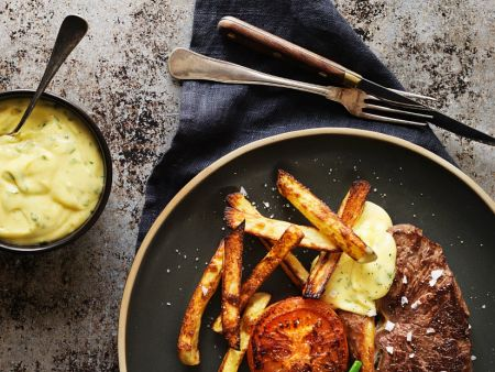 steak mit bernaise dip und gr nen bohnen rezept eat smarter. Black Bedroom Furniture Sets. Home Design Ideas