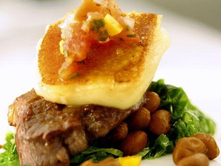 steak mit bohnen und k se rezept eat smarter. Black Bedroom Furniture Sets. Home Design Ideas