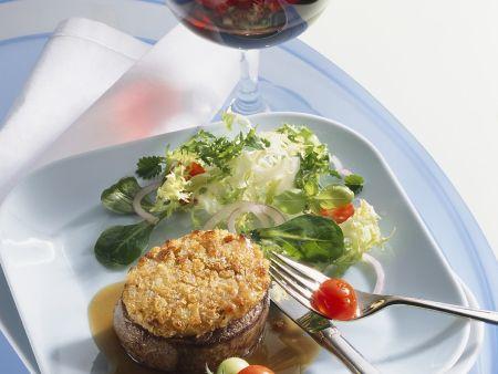 Steak mit Senfkruste
