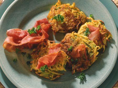Steckrüben-Zucchini-Puffer