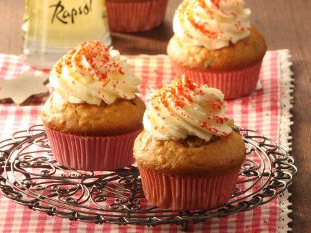 Stollen-Cupcakes mit Frischkäse-Frosting