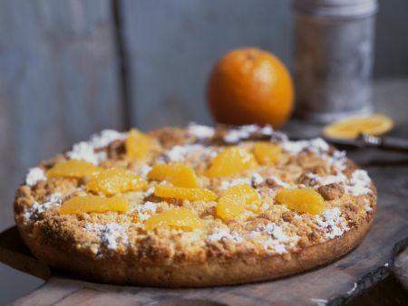 Streuselkuchen mit Orangen