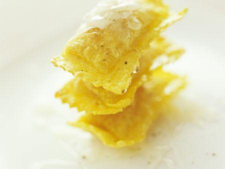 Süße frittierte Ravioli
