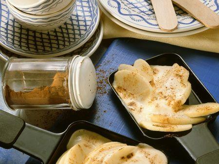 Süßes Apfel-Raclette