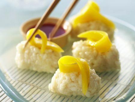 Süßes Mango-Sushi