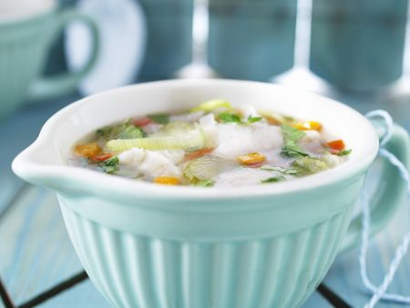 Suppe mit Fisch