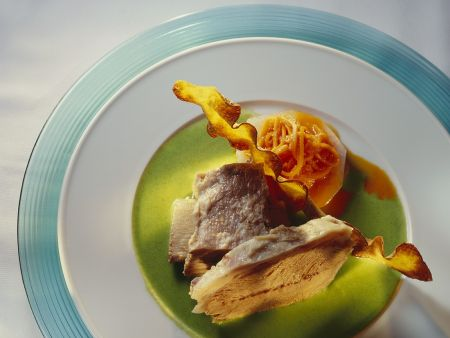 Suppenfleisch mit grüner Sauce