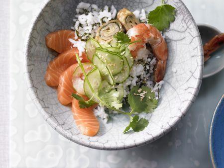 Sushi aus der Schüssel