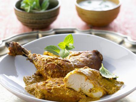 Tandorri-Hähnchen mit Soße
