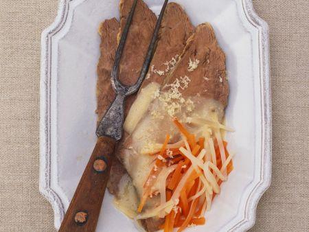 Tellerfleisch mit Meerrettichsoße