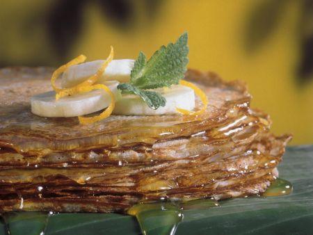 Thailändische Bananen-Pfannkuchen