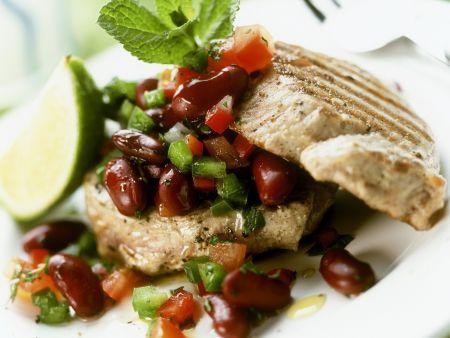 thunfischsteak mit kidneybohnen salat rezept eat smarter. Black Bedroom Furniture Sets. Home Design Ideas