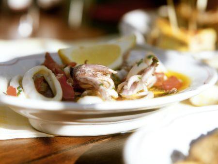 Tintenfischsalat auf spanische Art