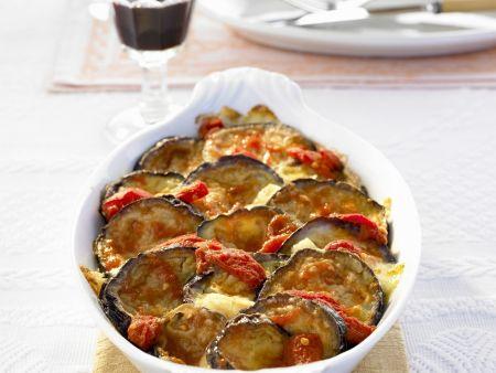 Tomaten-Auberginen-Gratin