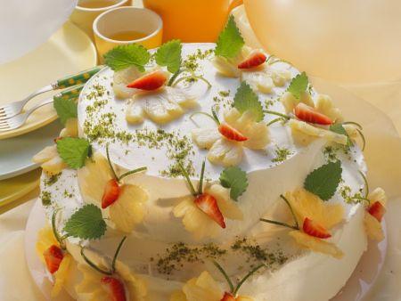 Torte in Schmetterlingsform