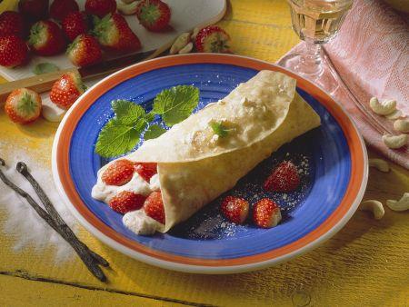 Tortillas mit Grießcremefüllung