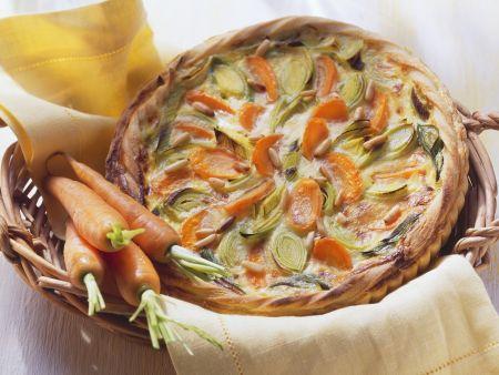 Vegane Gemüsetarte mit Pinienkernen