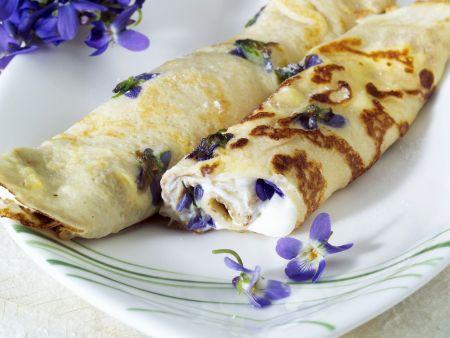 Veilchen-Pfannkuchen