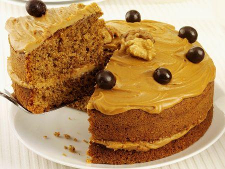 Walnuss-Kaffeecreme-Kuchen