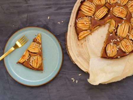 Apfelkuchen aus der Springform mit Sonnenblumenkernen