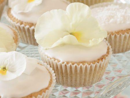 Weiße Cupcakes