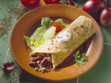Wrap mit Chili con carne