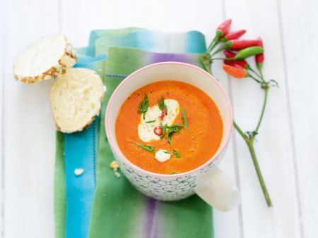 Feurige Paprika-Suppe