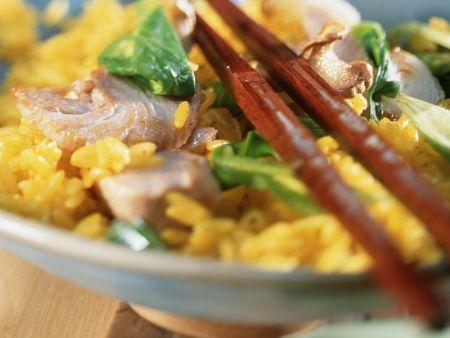 Würziger Reis mit Thunfisch