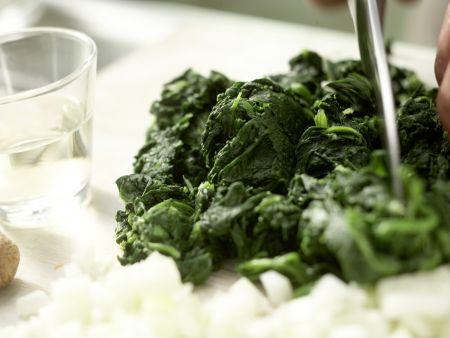 Würziger Spinat: Zubereitungsschritt 2