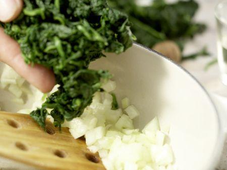 Würziger Spinat: Zubereitungsschritt 3