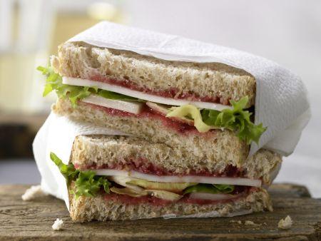 Ziegenkäse-Sandwich