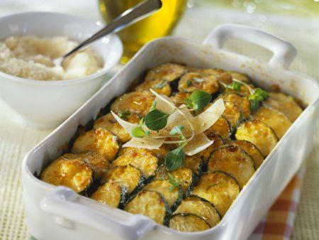 Zucchiniauflauf mit Parmesan