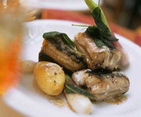 Aal mit Bratkartoffeln