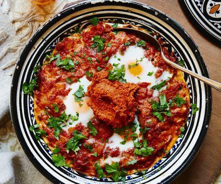 Afrikanische Tomaten-Ei-Pfanne