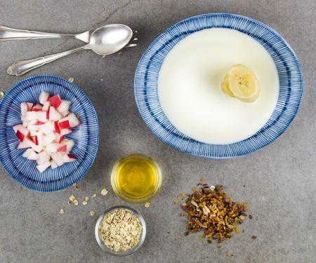 Apfel-Bananen-Joghurt mit Haferflocken