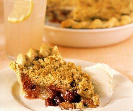 Apfel-Cranberry-Pie